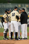 at BB&T BallPark on March 13, 2018 in Charlotte, North Carolina.  The 49ers defeated the Demon Deacons 13-1.  (Brian Westerholt/Sports On Film)