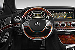 Car pictures of steering wheel view of a 2017 Mercedes Benz S-Class S550 4 Door Sedan Steering Wheel
