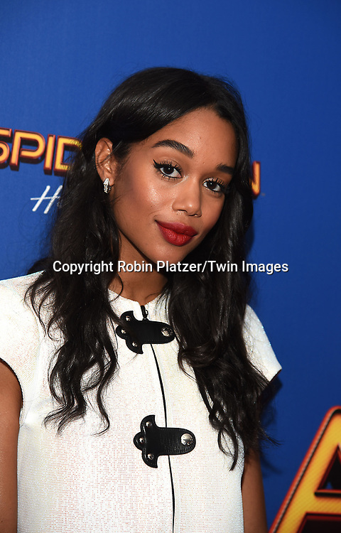actress Laura Harrier attends the &quot;Spiderman-Man: Homecoming&quot;  screening on June 26, 2017 at Henry R Luce Auditorium in New York, New York, USA. <br /> <br /> <br /> photo by Robin Platzer/Twin Images<br />  <br /> phone number 212-935-0770