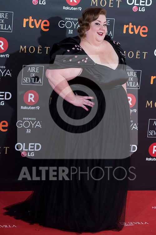 Itziar Castro attends red carpet of Goya Cinema Awards 2018 at Madrid Marriott Auditorium in Madrid , Spain. February 03, 2018. (ALTERPHOTOS/Borja B.Hojas)