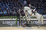 Jerome Guery of Belgium riding on Alicante competes during the EEM Trophy, part of the Longines Masters of Hong Kong on 10 February 2017 at the Asia World Expo in Hong Kong, China. Photo by Weixiang Lim / Power Sport Images