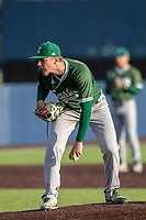 Eastern Michigan Eagles pitcher Mitchell Sparks (35) looks to his catcher for the sign during the NCAA baseball game against the Michigan Wolverines on May 8, 2019 at Ray Fisher Stadium in Ann Arbor, Michigan. Michigan defeated Eastern Michigan 10-1. (Andrew Woolley/Four Seam Images)
