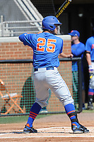 Florida Gators right fielder Preston Tucker #25 awaits a pitch during a game against the Tennessee Volunteers at Lindsey Nelson Stadium, Knoxville, Tennessee April 14, 2012. The Volunteers won the game 5-4  (Tony Farlow/Four Seam Images)..