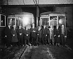 Crew poses after the last run of the Winsted - Torrington trolley n 1928