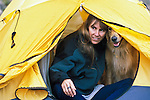 In the tent with the dog, Sangre de Cristo Wilderness, San Isabel National Forest, Colorado