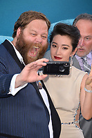 "LOS ANGELES, CA - August 06, 2018: Olafur Darri Olafsson & Li Bingbing at the US premiere of ""The Meg"" at the TCL Chinese Theatre"