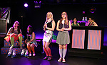 Leah Lane, Hui-Shan Yong, Claire Autran, Azalea Lewis, Maggie Metnick and Dani Martineck during The Dare Tactic production of 'A Roller Rink Temptation' at  WOW Cafe on May 25, 2018 in New York City.
