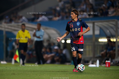 Toshihiro Matsushita (Yokohama FC), <br /> JULY 26, 2014 - Football /Soccer : <br /> 2014 J.LEAGUE Division 2 <br /> between Yokohama FC 4-0 Jubilo Iwata <br /> at NHK Spring Mitsuzawa Football Stadium, Kanagawa, Japan. <br /> (Photo by AFLO SPORT) [1205]