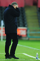 Tony Mowbray Manager of Blackburn Rovers in action during the Sky Bet Championship match between Swansea City and Blackburn Rovers at the Liberty Stadium in Swansea, Wales, UK. Wednesday 11 December 2019