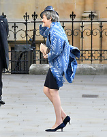 Theresa May at Commonwealth Day Observance Service, an annual multi-faith service in celebration of the Commonwealth, at Westminster Abbey, London, England on March 11, 2019.<br /> CAP/JOR<br /> &copy;JOR/Capital Pictures