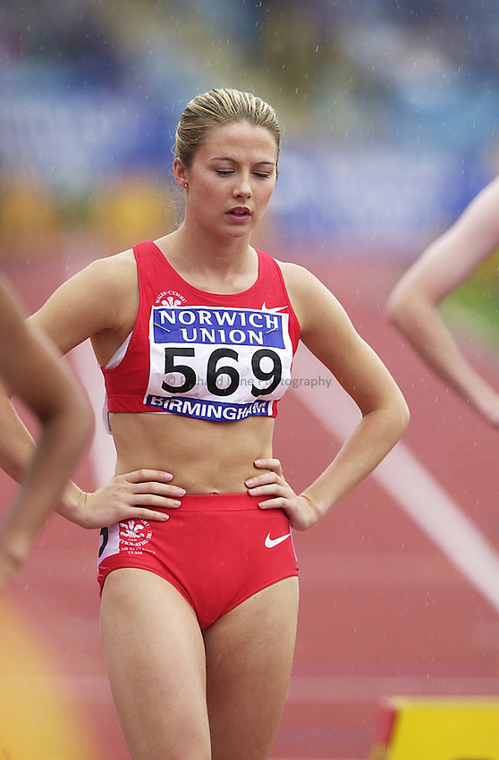 Photo. Richard Lane. .Norwich Union Olympic Trials and AAA Championships, Alexander Stadium , Birmingham. 13/8/2000.Emma Davies in the Women's 800 Metres.