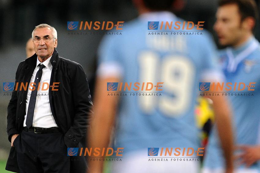 Edoardo Reja, nuovo allenatore della Lazio.<br /> Roma 06-01-2014 Stadio Olimpico. Football Calcio 2013/2014 Serie A. Lazio - Inter. Foto Antonietta Baldassarre / Insidefoto