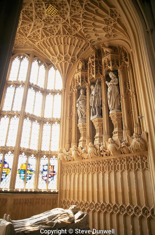 Westminster Abbey interior, London, UK