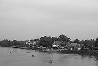Mortlake/Chiswick. Greater London. London. 2017 Bourne Regatta At Chiswick Bridge. Course, Runs from and to Mortlake Anglian and Alpha Boathouse, dependent on the Tide Direction. Chiswick.  River Thames. <br /> <br /> General view, from Chiswick Bridge at  the Mortlake Anglian and Alpha and Quinti BC. Boathouse.<br /> <br /> Saturday  06/05/2017<br /> <br /> [Mandatory Credit Peter SPURRIER/Intersport Images]