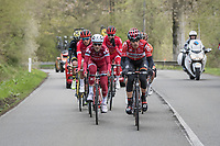 The early breakaway group<br /> <br /> 103rd Liège-Bastogne-Liège 2017 (1.UWT)<br /> One Day Race: Liège › Ans (258km)