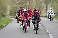 The early breakaway group<br /> <br /> 103rd Li&egrave;ge-Bastogne-Li&egrave;ge 2017 (1.UWT)<br /> One Day Race: Li&egrave;ge &rsaquo; Ans (258km)