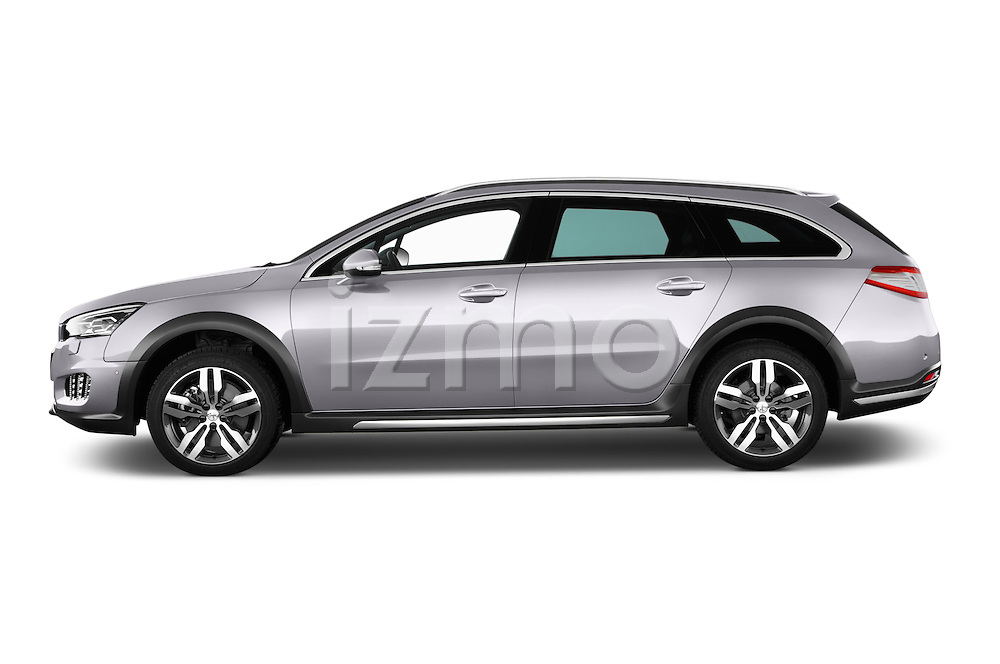 Car Driver side profile view of a 2015 Peugeot 508 RXH 5 Door Wagon 2WD Side View