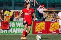 Rochester, NY - Friday June 17, 2016: Portland Thorns FC midfielder Tobin Heath (17) after a regular season National Women's Soccer League (NWSL) match between the Western New York Flash and the Portland Thorns FC at Rochester Rhinos Stadium.