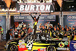 NASCAR Camping World Truck Series driver Jeb Burton (4) wins the NCWTS Winstar World Casino 400 race at Texas Motor Speedway in Fort Worth,Texas.