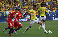 BARRANQUILLA -COLOMBIA, 10-NOVIEMBRE-2016. Jmaes Rodriguez en acción contra Chile ,  durante el  encuentro  por las eliminatorias al mundial de Rusia 2018  disputado en el estadio Metropolitano Roberto Meléndez de Barranquilla./ Jmaes Rodriguez player of Colombia in actions against Chile  during the qualifying match for the 2018 World Championship in Russia Metropolitano Roberto Melendez stadium in Barranquilla . Photo:VizzorImage / Felipe Caicedo  / Staff