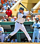 11 March 2009: Detroit Tigers' infielder Michael Hollimon in action during a Spring Training game against the New York Yankees at Joker Marchant Stadium in Lakeland, Florida. The Tigers defeated the Yankees 7-4 in the Grapefruit League matchup. Mandatory Photo Credit: Ed Wolfstein Photo