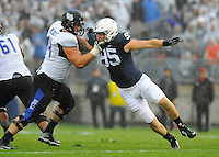 12 September 2015:  Penn State DE Carl Nassib (95) rushes the quarterback. The Penn State Nittany Lions defeated the Buffalo Bulls 27-14 at Beaver Stadium in State College, PA.