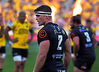Sharks hooker Keeran van Vuuren during the Super Rugby match between the Hurricanes and Sharks at Sky Stadium in Wellington, New Zealand on Saturday, 15 February 2020. Photo: Dave Lintott / lintottphoto.co.nz