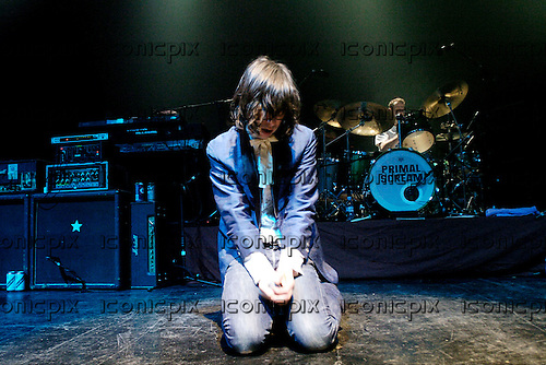 Primal Scream - vocaliist Bobby Gillespie performing live at the Astoria, London - 06 Apr 2006. Photo credit: George Chin / IconicPix