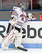Florence Schelling (NU - 41) - The University of Connecticut Huskies defeated the Northeastern University Huskies 4-1 in Hockey East quarterfinal play on Saturday, February 27, 2010, at Matthews Arena in Boston, Massachusetts.