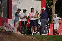 Cormack Sharvin (IRL) with Shane Lowry (IRL) on the 10th during the Pro-Am of the Abu Dhabi HSBC Championship 2020 at the Abu Dhabi Golf Club, Abu Dhabi, United Arab Emirates. 15/01/2020<br /> Picture: Golffile | Thos Caffrey<br /> <br /> <br /> All photo usage must carry mandatory copyright credit (© Golffile | Thos Caffrey)