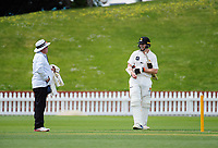 Wellington's Michael Bracewell on Day One of the Plunket Shield cricket match between Wellington Firebirds and Otago Volts at the Basin Reserve in Wellington, New Zealand on Wednesday, 17 October 2018. Photo: Dave Lintott / lintottphoto.co.nz