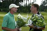 LEUSDEN - Joost Steenkamer en Hayo Bensdorp.   Stern Open 2003 op de Hoge Kleij. COPYRIGHT KOEN SUYK