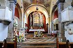 Pfarrkirche Maria Himmelfahrt, Parish church - Assumption of the Virgin Mary, Omisalj ist eine kleine Küstenstadt im Nordwesten der Insel Krk, Kroatien. Die Bevölkerungsanzahl der Stadt selber beträgt 1.790 (2001). Omisalj ist eine der ältesten Städte von Krk. Sie wurde im 3. Jahrhundert von den Römern als Fulfinium gegründet. Omisalj is a small coastal town in the north-west of the island of Krk in Croatia. The population of the town itself is 1,790 (2001)..Omisalj is one of the oldest towns on Krk, dating from the 3rd century, Krk Island, Dalmatia, Croatia. Insel Krk, Dalmatien, Kroatien. Krk is a Croatian island in the northern Adriatic Sea, located near Rijeka in the Bay of Kvarner and part of the Primorje-Gorski Kotar county. Krk ist mit 405,22 qkm nach Cres die zweitgroesste Insel in der Adria. Sie gehoert zu Kroatien und liegt in der Kvarner-Bucht suedoestlich von Rijeka.