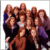 Group of red haired women<br />