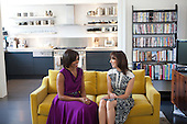 First Lady Michelle Obama and Samantha Cameron, wife of British Prime Minister David Cameron, talk before having tea in the private residence at Downing Street in London, England, May 24, 2011. .Mandatory Credit: Lawrence Jackson - White House via CNP