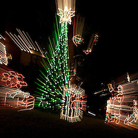 Christmas Holiday Decorations with simulated movement