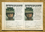 Old magazine army recruitment advertisement for the US military, USA