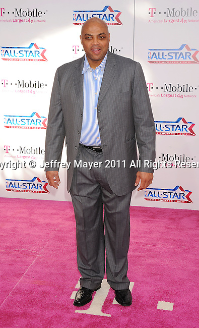 LOS ANGELES, CA - FEBRUARY 20: Charles Barkley  arrives at the T-Mobile Magenta Carpet at the 2011 NBA All-Star Game at L.A. Live on February 20, 2011 in Los Angeles, California.
