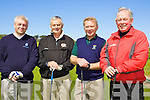 8782-8785.Competing in the Kerry Captain's Invitational Tournament which took place at Ballyheigue Castle Golf Club on Saturday afternoon were l/r Mark Hanley, Capt. Killorglin Golf Club, Sean Barry, Capt. Castlegregory Golf Club, Kerry Capt. Michael Dowling and Nicky Barry representing Killarney Golf Club.