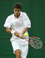27-6-06,England, London, Wimbledon, first round match, Mario Ancic