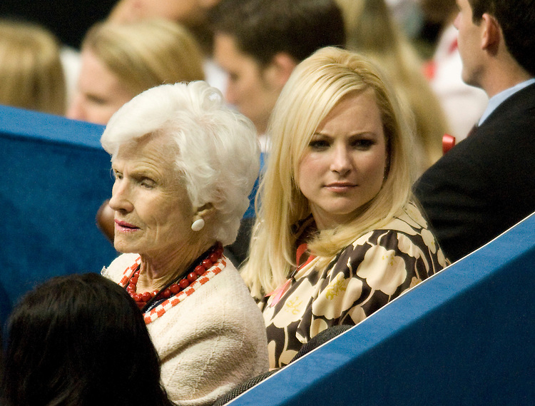 Republican presidential candidate Sen. John McCain's mother Roberta and daughter Meghan attend the Republican National Convention at the Xcel Center in St. Paul, Minn., on Monday, Sept. 1, 2008.
