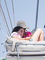 Princess Elena and Victoria Federica on board of Tara