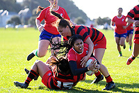 Action from the women's rugby union match between Poneke and Marist St Pat's at Kilbirnie Park in Wellington, New Zealand on Saturday, 13 June 2020. Photo: Dave Lintott / lintottphoto.co.nz