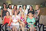 HEN NIGHT: Majella Clifford who brought her chicken to celebrate her hen night at the Kingdom Greyhound Stadium, Tralee on Saturday night. Front l-r: Michelle Hewett, Tara Johnston, Majella Clifford and Margaret Molly. Back l-r: Angela O'Regan, Jillian Riordan, Sharon O'Brien, Trish Keane, Noritta Hartnett and Sharon Griffin...................................... ....