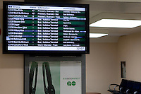 GO Transit departures board is pictured in Toronto Union Station April 20, 2010. GO Transit (reporting mark GOT) is an interregional public transit system in Southern Ontario, Canada.