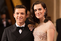 Tom Holland and Allison Williams arrive on the red carpet of The 90th Oscars&reg; at the Dolby&reg; Theatre in Hollywood, CA on Sunday, March 4, 2018.<br /> *Editorial Use Only*<br /> CAP/PLF/AMPAS<br /> Supplied by Capital Pictures