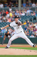 Charlotte Knights starting pitcher Bobby Doran (28) in action against the Gwinnett Braves at BB&T Ballpark on August 6, 2014 in Charlotte, North Carolina.  The Knights defeated the Braves  12-10.  (Brian Westerholt/Four Seam Images)