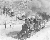 3/4 fireman's-side view of D&amp;RGW #361 switching at Cimarron, CO.<br /> D&amp;RGW  Cimarron, CO  5/30/1949