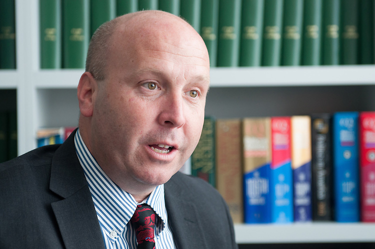 UNITED STATES - July 23: Tom Cullerton, Democratic candidate for Illinois' 8th congressional district, is interviewed in the Roll Call offices on July 23, 2015. (Meredith Dake/CQ Roll Call)