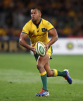 Kurtley Beale of the Wallabies during the Rugby Championship match between Australia and New Zealand at Optus Stadium in Perth, Australia on August 10, 2019 . Photo: Gary Day / Frozen In Motion